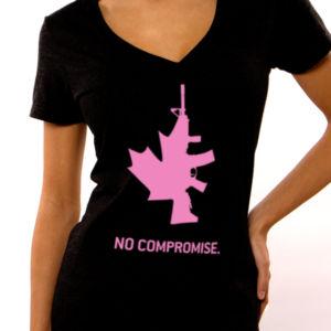 Women's No Compromise VNeck T-shirt