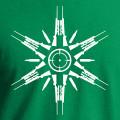 Green t-shirt logo