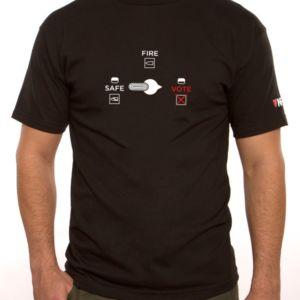 T-shirt  Votez pour votre passion - Sécurité