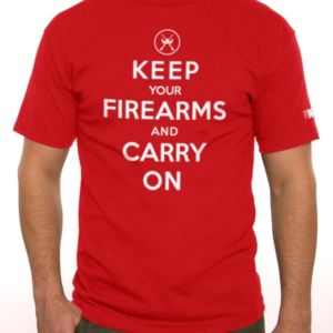 Keep your Firearms & Carry On T-Shirt